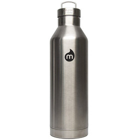 MIZU V8 Insulated Bottle with Black Print & Steel Cap 800ml Stainless